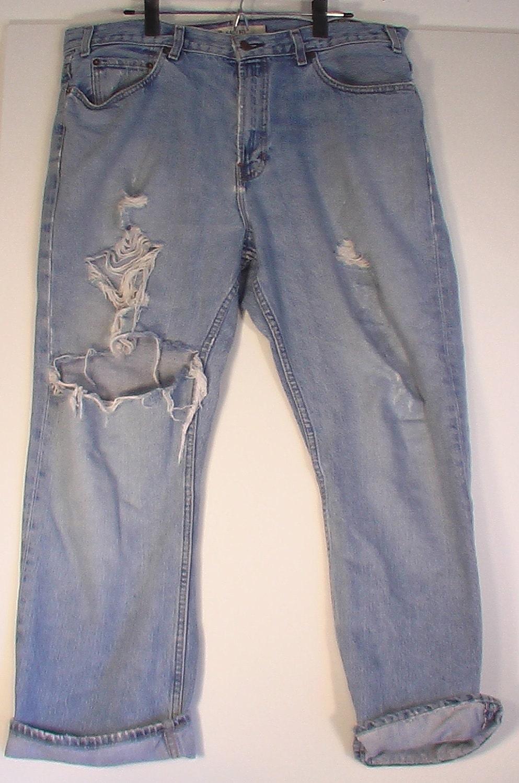 men 39 s vintage gap jeans 40 38 30 distressed grunge punk. Black Bedroom Furniture Sets. Home Design Ideas