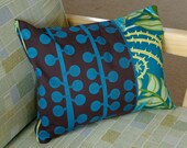 Berries and Vines Throw Pillow Cover