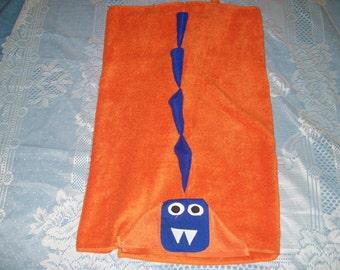 Dinasaur hooded towel