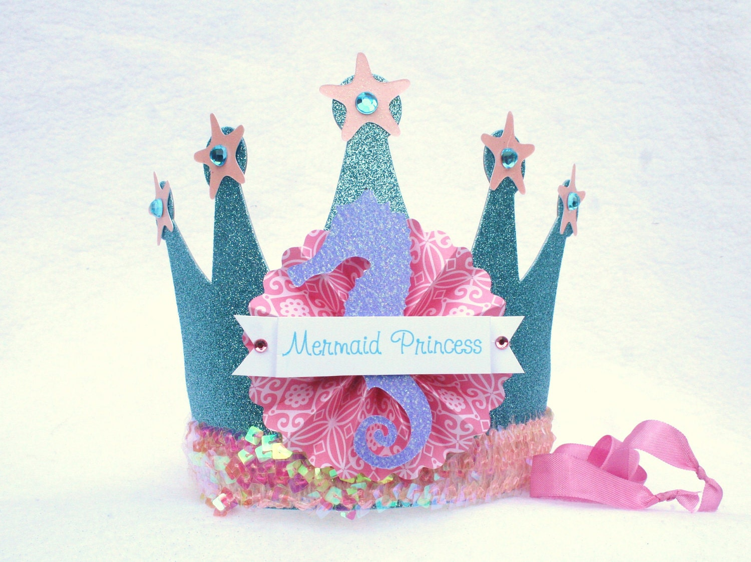 Sparkly Mermaid Princess Crown Party Hat in by ...