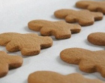 Gingerbread Men 3 inch by 2.25  - Ready to decorate - Please Order Early for december - 20 cookies - 300 cookies