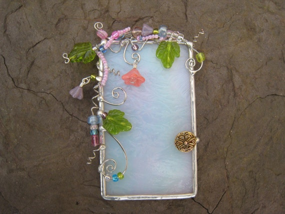 Fairy door wall art or sun catcher or garden art for Fairy door for wall