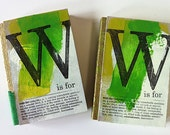 W is for wonder, small alphabet notebook