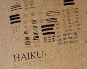 haiku a day blank  pocket notebook