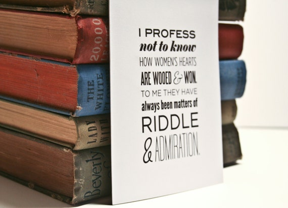 Literature Quotation Notecard / Sleepy Hollow