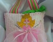 Tooth Fairy Pillow for Girls Hand Painted Faces and Personalized