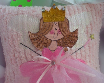 Hand Painted Tooth Fairy Pillow-Fairy Pillow-tooth pillow-pink tooth fairy pillow By Bubbles and Company