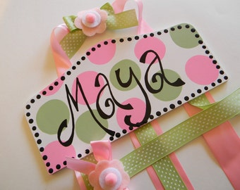 Bow Holder - Custom Personalized Plaque Style Hair Bow Holder