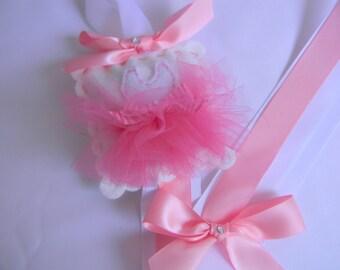 Sweet Felt Ballerina Clip Hair Bow Holder