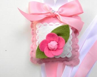 Sweet Felt Hot Pink Rose Hair Bow Holder