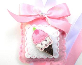 Felt Ice Cream Cone Hair Bow Holder-hair bow holder-bow holder-hair clip holder-barrette holder