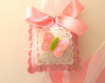 Felt Pink Butterfly Hair Bow Holder-bow holder-hair clip holder-barrette holder