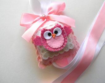 Sweet Felt Hot Pink Owl Hair Bow Holder