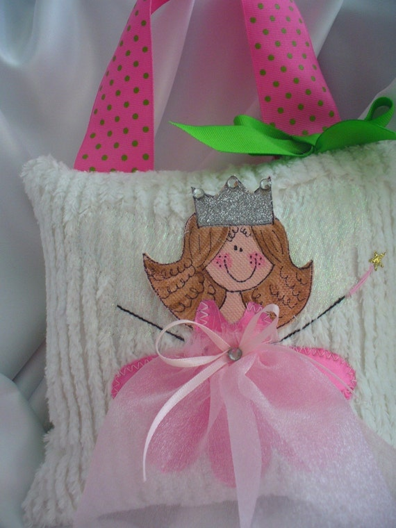 Girl Tooth Fairy Pillow -personalized