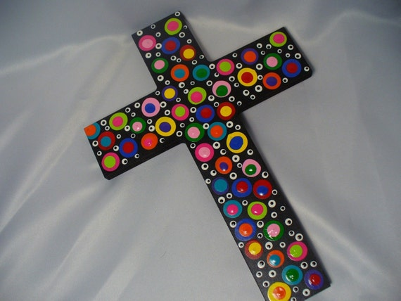 Large Polka Dotted Cross