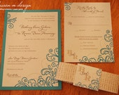Natural Floral Recycled Invitation Suite (Sample)