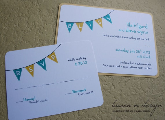 Banner/Pennant Matted Invitation Suite (Sample)