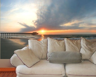 Wall Mural, Tybee Island Sunrise, 48x100 inches - free US shipping