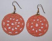 Orange Crochet Earrings