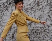 Forties Butterscotch Suit / Greta Garbo Classic