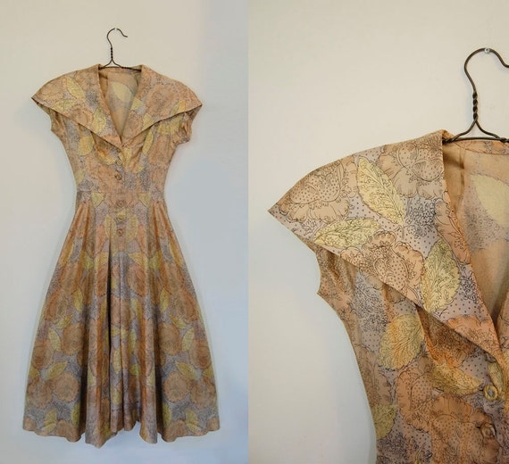 V I  N T A G E Champagne Twist silk dress...reserved for I D A