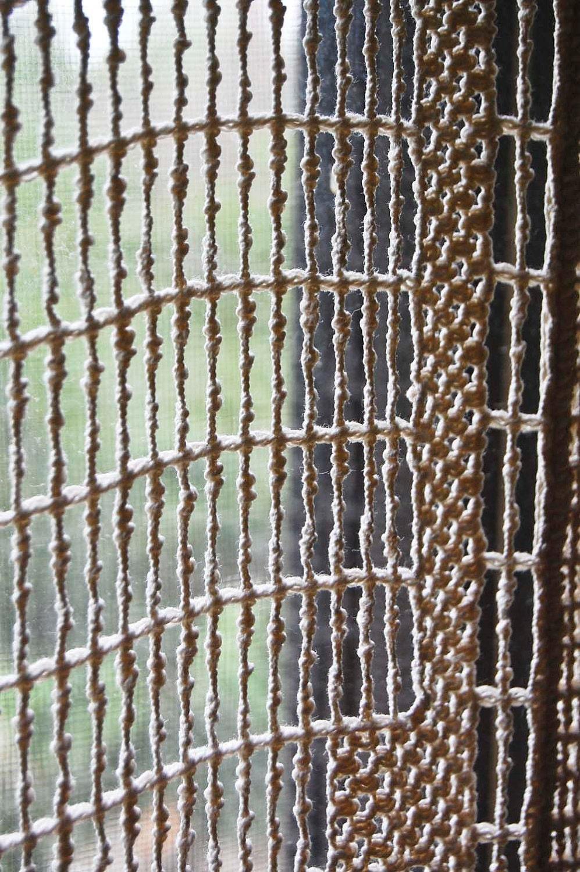 Vintage Berkeley Knot Macrame Curtain Panel