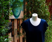 Folded Shoulder Top in Organic Cotton