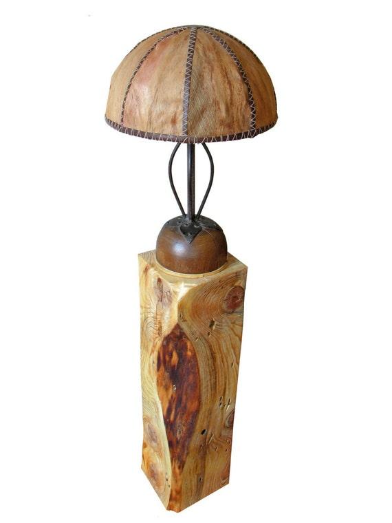 Items similar to doom reclaimed wood floor lamp on etsy for Wooden floor lamp etsy