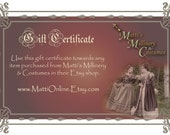 50 Dollar Gift Certificate from MattiOnline for ANY Shop item