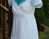 RESERVEDPride and Prejudice Movie Ball gown white reproduction of Kiera Knightley Elizabeth Bennet Wedding Dress