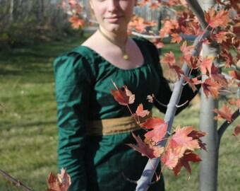 CUSTOM Silk Jane Austen Style Gown with sash CUSTOM