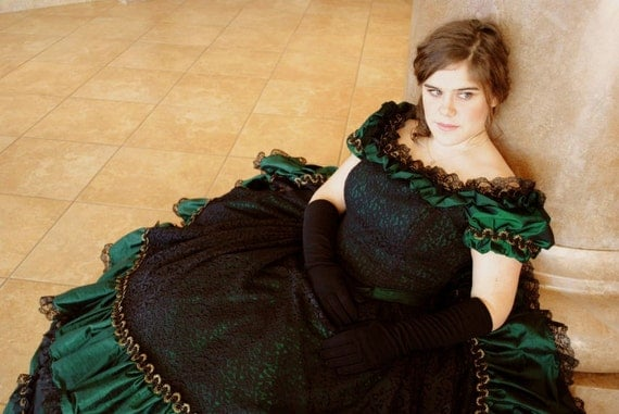 Victorian Civil War Ball Gown Dress Christmas CUSTOM in colors of your choice
