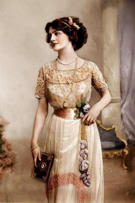 Titanic 1912 Edwardian Portrait Tea Evening Gown Dress RESERVED for Mari
