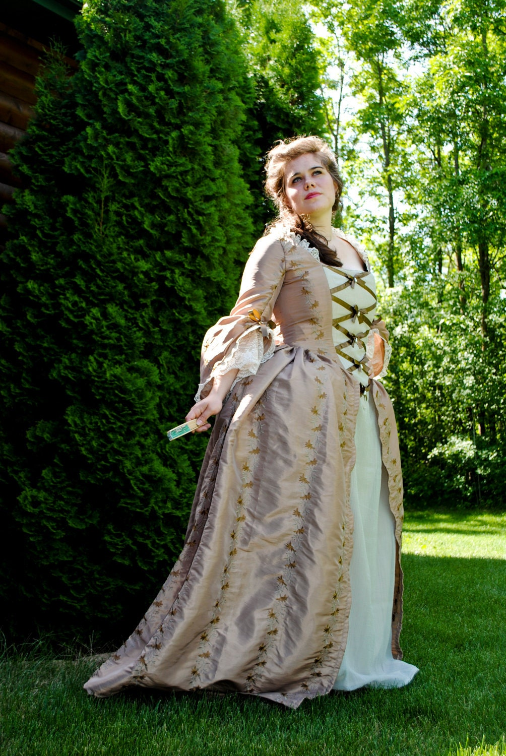 Christmas gown ideas 18th - Custom Colonial 18th Century Rococo Dress Gown 1700s Outfit Embroidered Taffeta