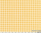 CLEARANCE, Japanese, Lecien, Medium Gingham in Yellow and White, 4522-Y, 1/2 Yard