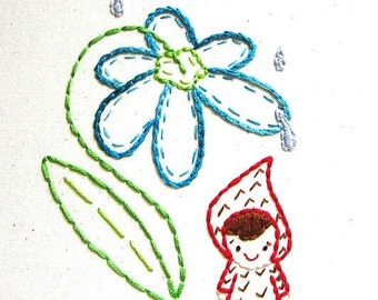 Annie Oakleaves, Eenies Collection, PDF Embroidery Patterns