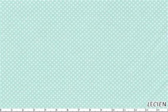 Japanese, Leicen Color Basics, White Pin Dots on Aqua, 4503-LL, 1/2 Yard