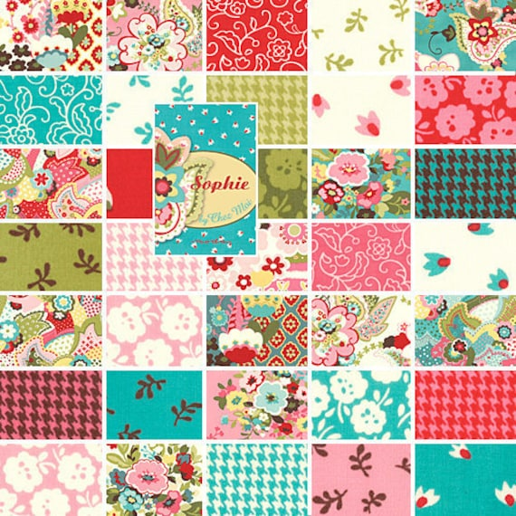 Moda Sophie Charm Pack By Chez Moi By Sewdeerlyloved On Etsy