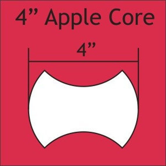 Apple Cores Are A Myth: 4 Inch Apple Core English Paper Piecing Pattern By