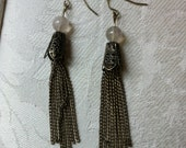 Dangle Shimmy Antiqued Earrings