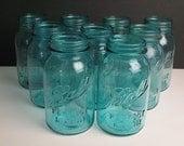 9 Vintage (c.1910-1923) Ball Perfect Mason Quart Jars