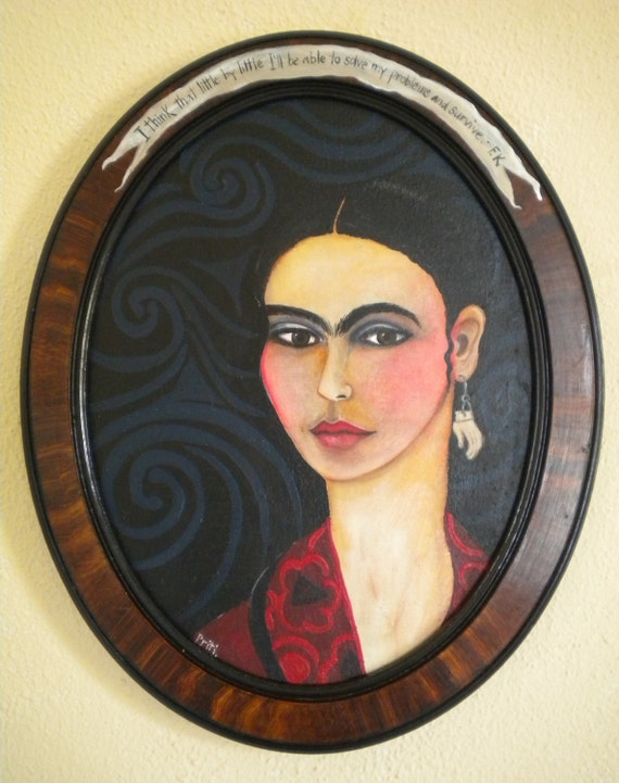 Frida in an oval Frame
