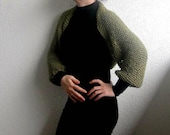 Shrug, Bolero, Army Green, Green, Multi-functional, knitted