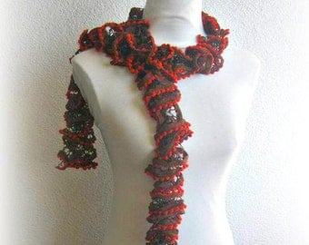 Scarf, Shawl in , Brown, Orange