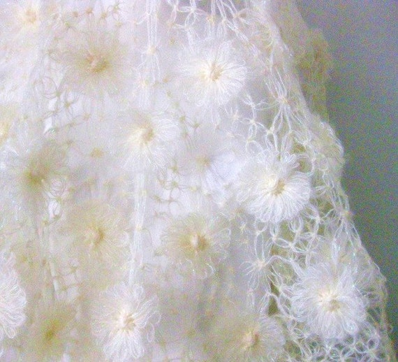 Wedding Shawl, Bridal shawl, Ivory , Creme