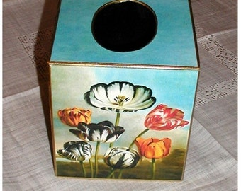 Tissue Box Cover, Tulips