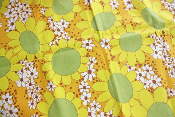 LAST ONE ------ Vintage Fabric ---- Sunny Day---- One Half Yard -- Barkcloth