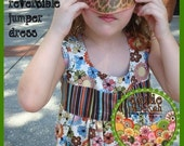 Easy Sewing Pattern Bonnie Reversible Girls Size 5-8 Dress or Jumper--PDF Sewing Pattern Tutorial Instructions