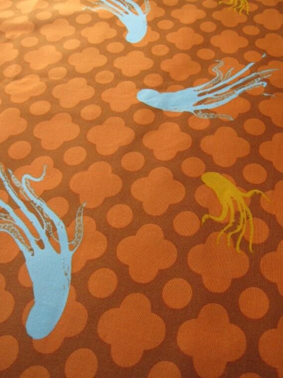 Heather Ross Medocino Giant Octopi in Orange FQ