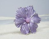 Kramer Brooch Purple Flower pin